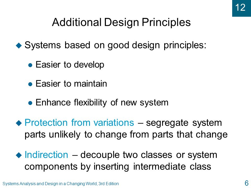 principles of system analysis and design
