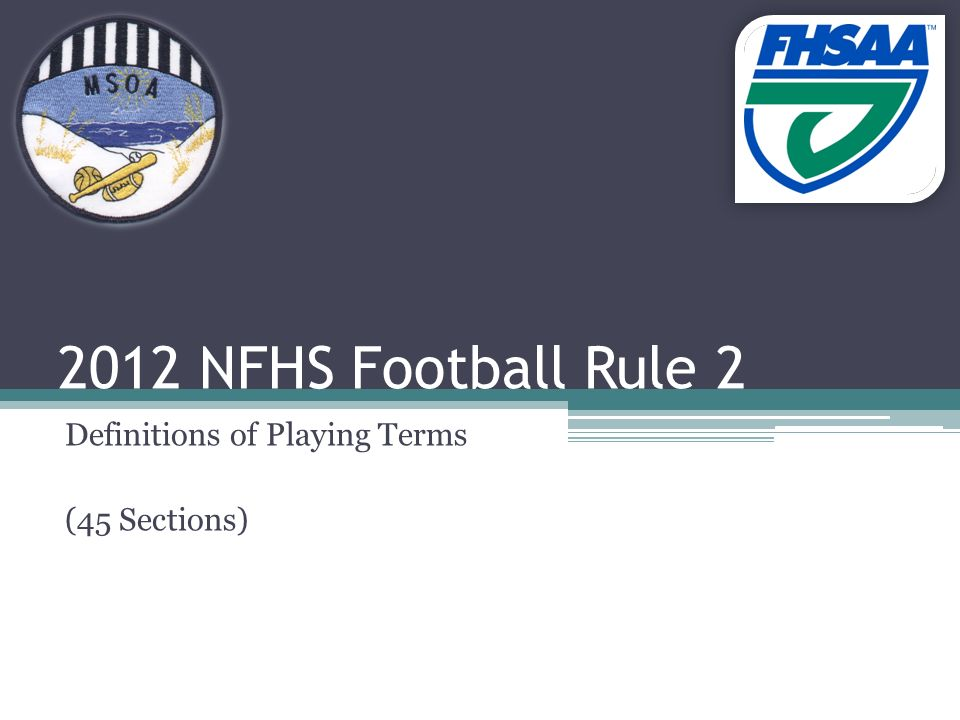 2012 nfhs football rule 2 definitions of playing terms 45 sections 1 2012 nfhs football rule 2 definitions of playing terms 45 sections fandeluxe Gallery