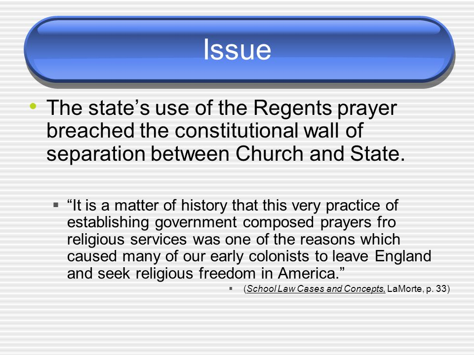 the constitutionality of prayer Such prayers were offered before town board meetings in greece, ny, near rochester thomas g hungar, a lawyer for the town, said a 1983 supreme court justice antonin scalia said prayers in a legislative setting were different from the hypothetical ones in court that justice kagan had asked about.