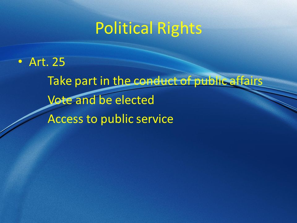 Political Rights Art.