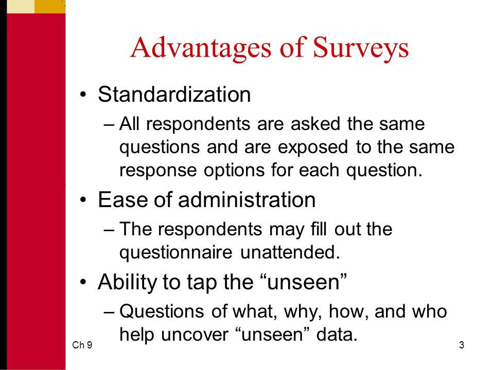 Survey-Data Collection Methods  Ch 92 Surveys A survey