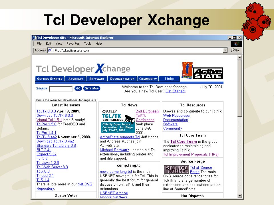 Open Source Convention 2001 The (Active) State of Tcl  - ppt