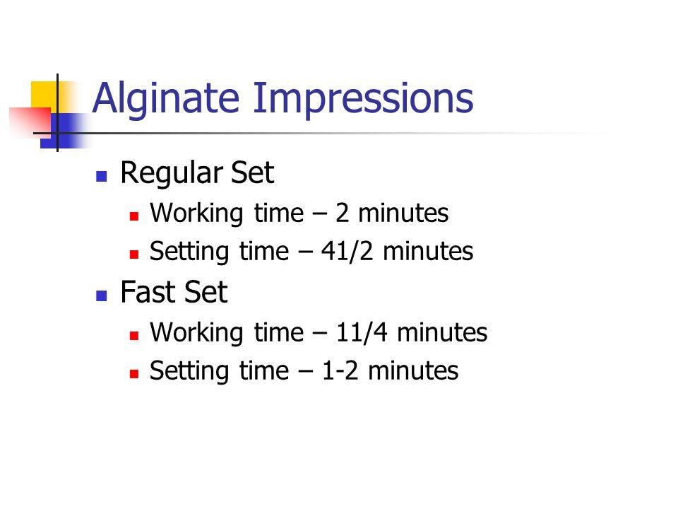 Alginate Impresions Diagnostic Casts  Alginates Alginate