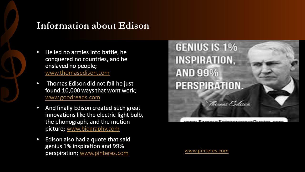 Thomas Edison By Ryan Kohart ppt download