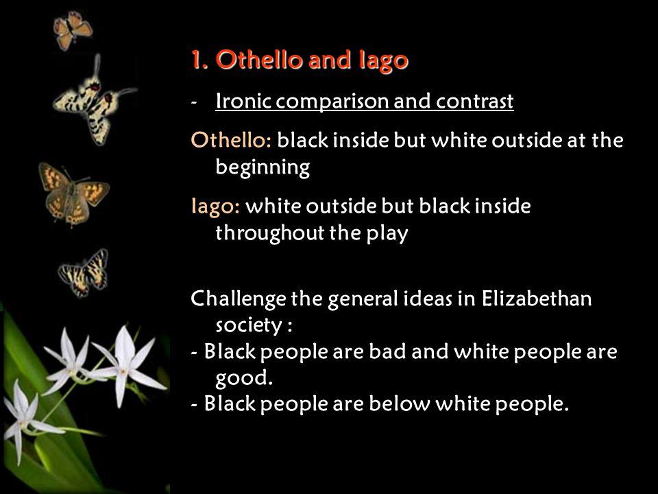 compare and contrast iago and cassio