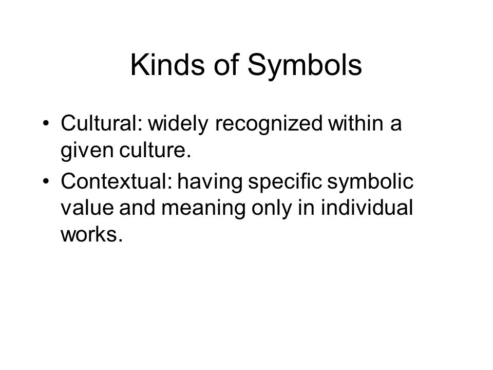 Introduction To Symbolism Symbolism Derived From Greek Word Meaning