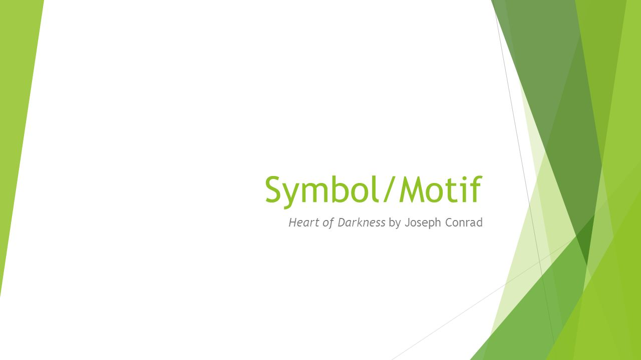 Symbolmotif Heart Of Darkness By Joseph Conrad Symbolmotif