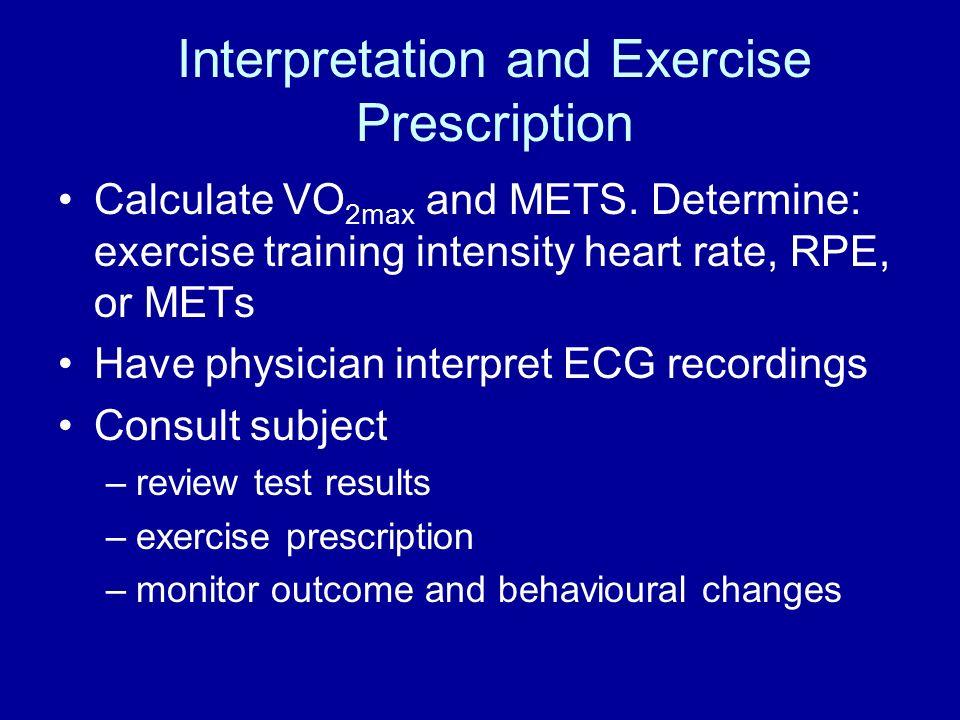 Aerobic Exercise Testing Maximal laboratory measurement & estimation