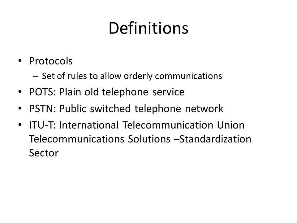 plain old telephone service pots definition