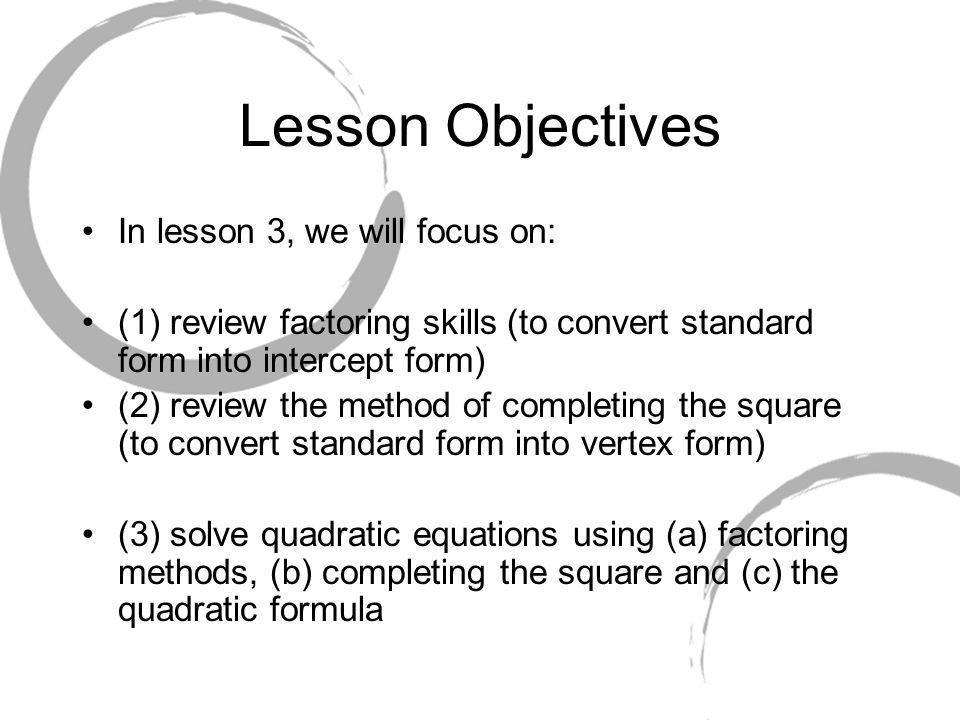 Lesson Algebra Of Quadratic Relations Functions Trig Santowski