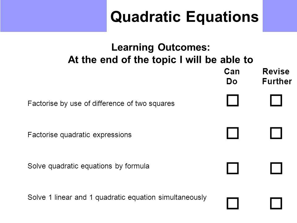 15 Quadratic Equations: Solving Quadratic Equations By Factorisation Worksheet At Alzheimers-prions.com