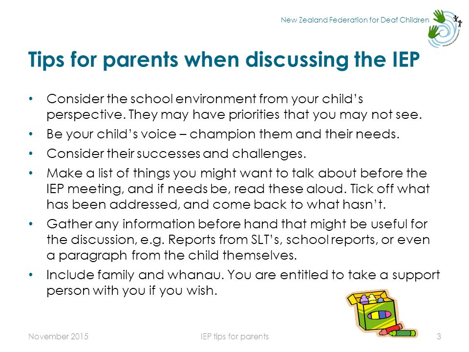 Iep Tips For Parents >> New Zealand Federation For Deaf Children Iep Tips For Parents