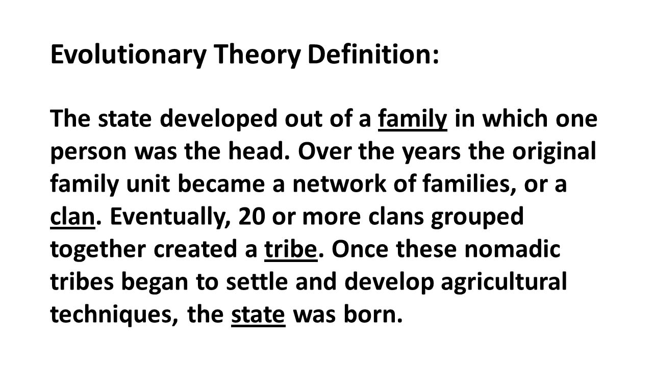 force theory definition government