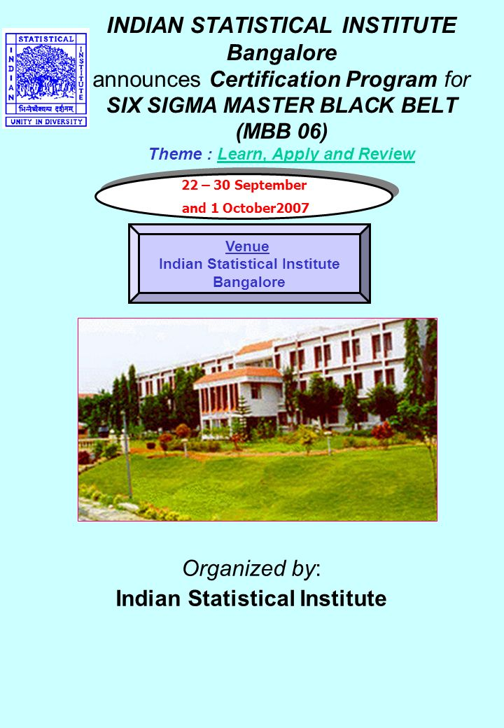 Indian Statistical Institute Bangalore Announces Certification