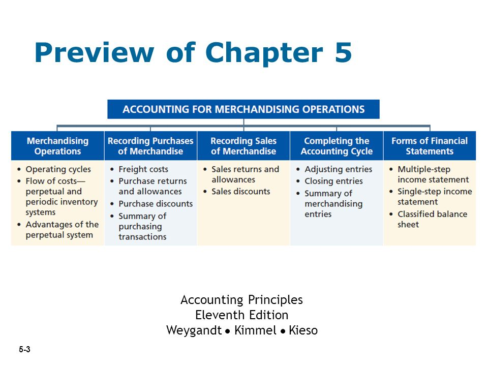 5 Accounting Principles