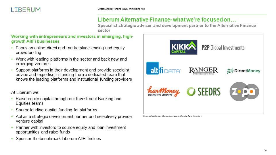 Direct Lending: Finding value/ minimising risk Ropemaker Place, 25