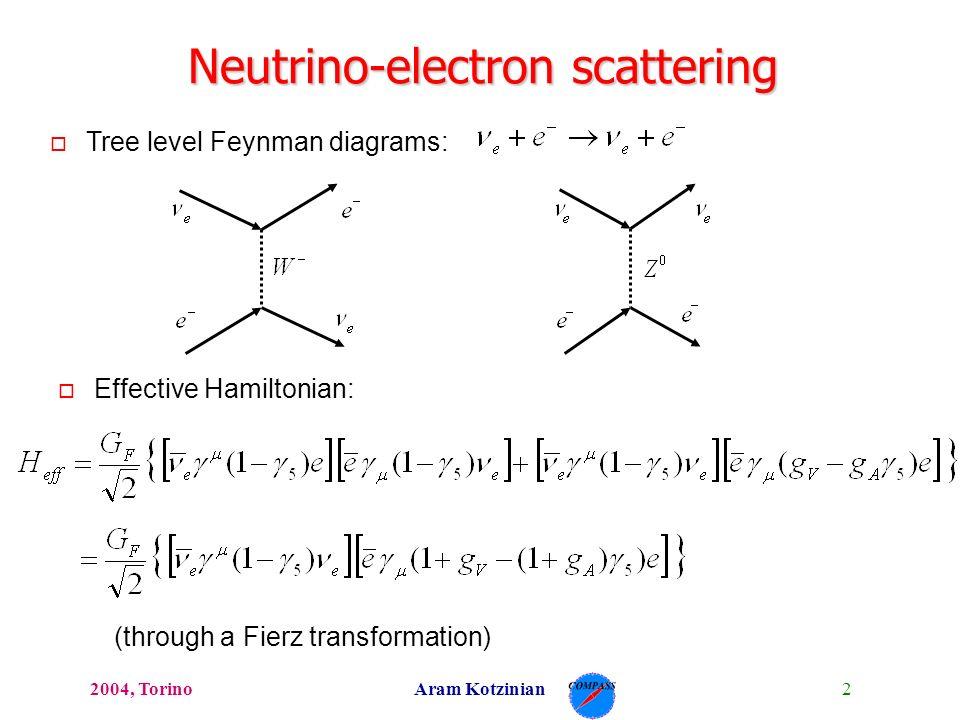 12004 Torinoaram Kotzinian Neutrino Scattering Neutrino
