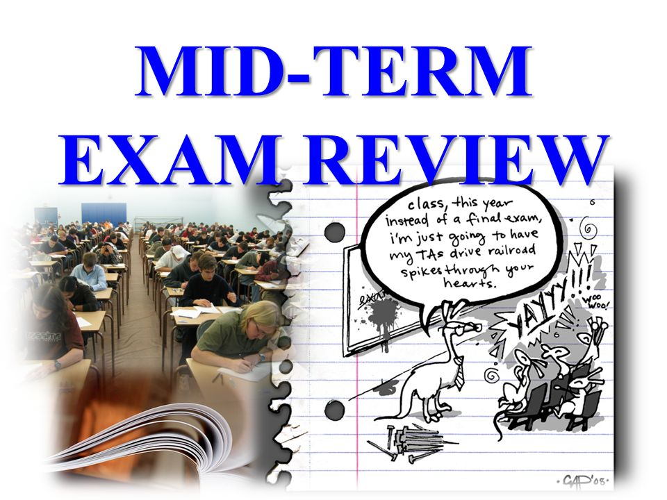 an analysis of midterm examination Numerical analysis i - midterm exam name: matrikelnummer: i agree to the publication of the results of this examination on the course home page only the.