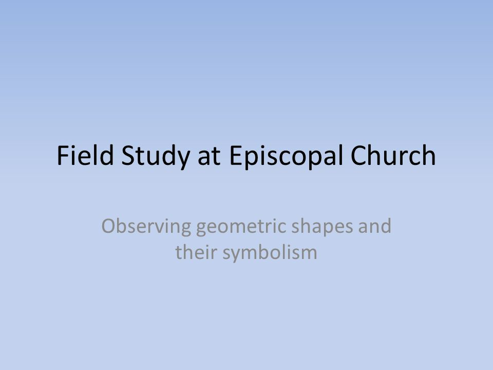 Field Study At Episcopal Church Observing Geometric Shapes And Their
