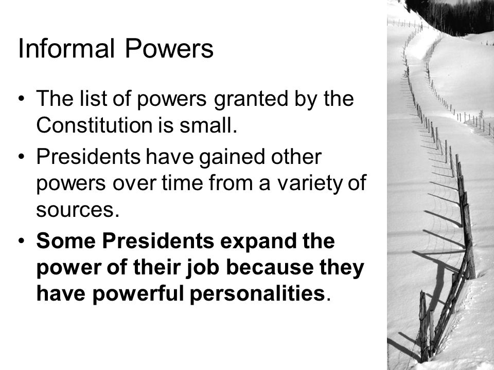 list 5 powers of the president
