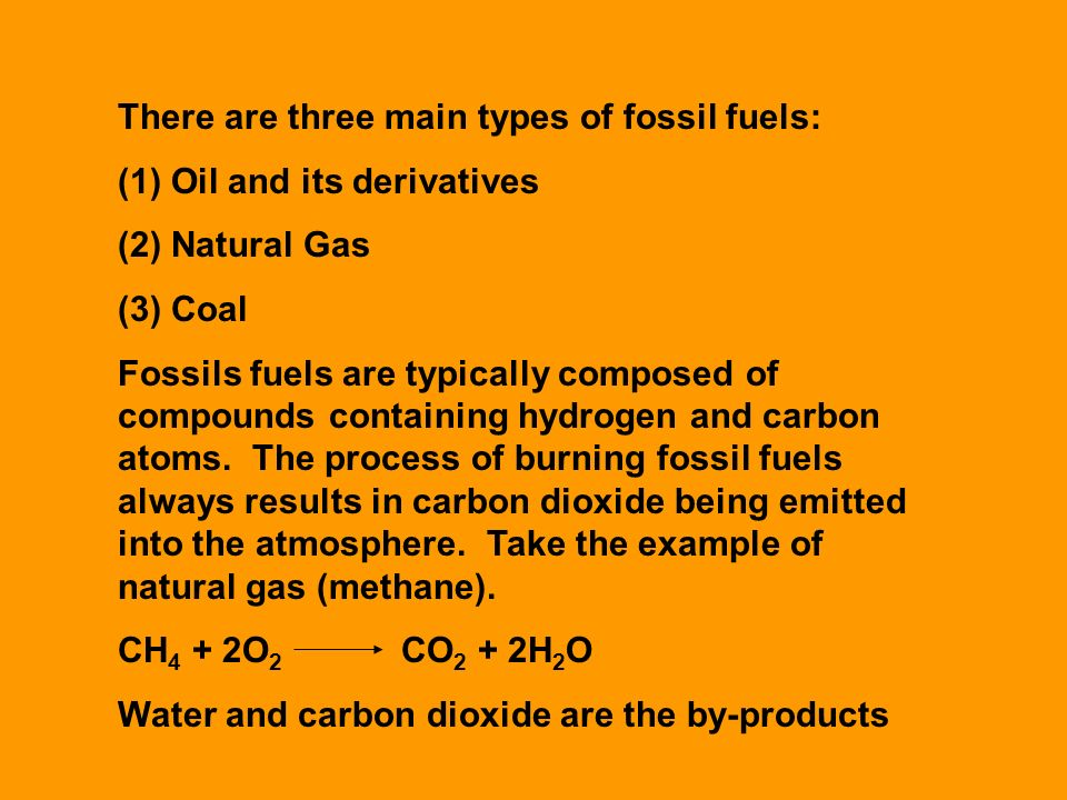 The Carbon Cycle There Are Three Main Types Of Fossil Fuels 1