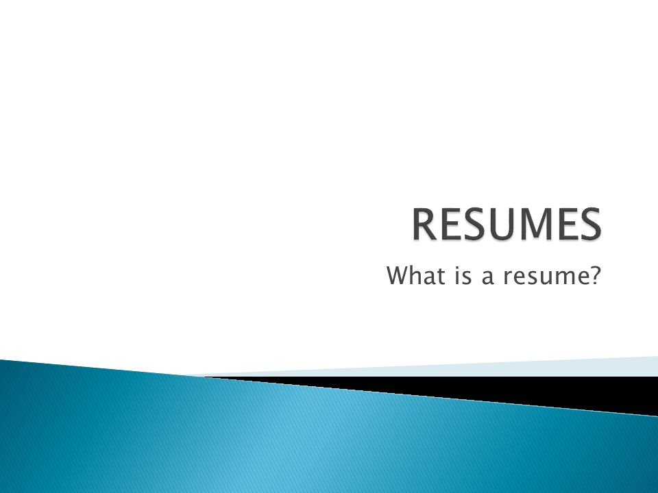 what is a resume what are the main categories on a resume what do