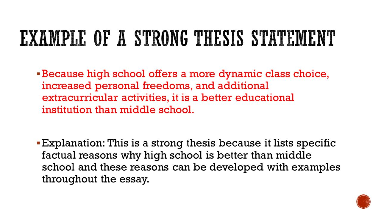 strong thesis examples