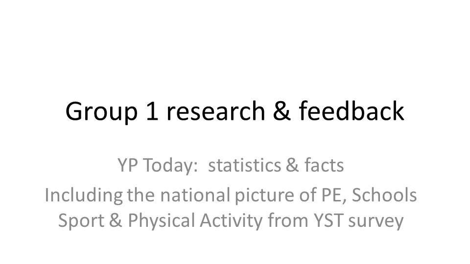 Research Yst Job Description   Group 1 Research Feedback Yp Today Statistics Facts Including