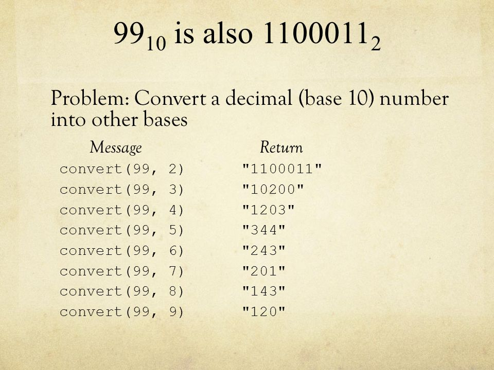 Using Recursion To Convert Number