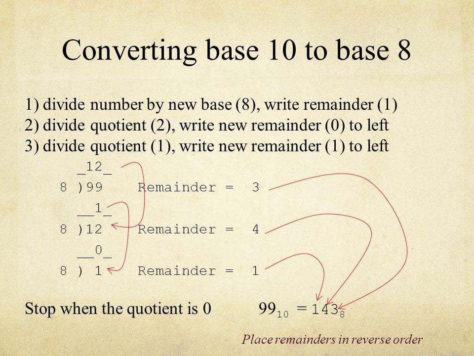 5 Converting