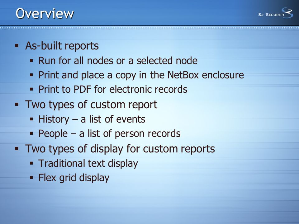 Reports in NetBox 3 John L  Moss  Overview  As-built