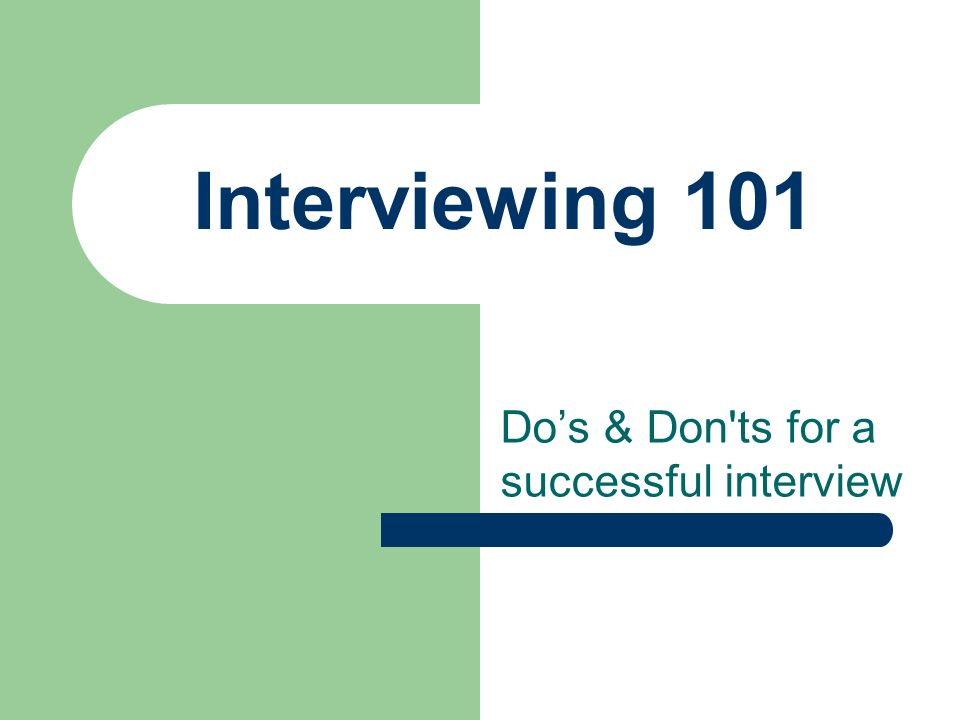 1 interviewing