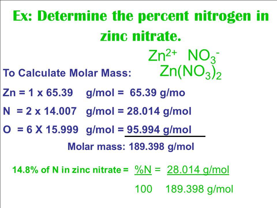 mass of zinc