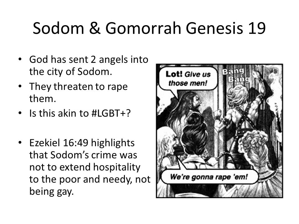Sodom and gomorrah homosexuality scripture
