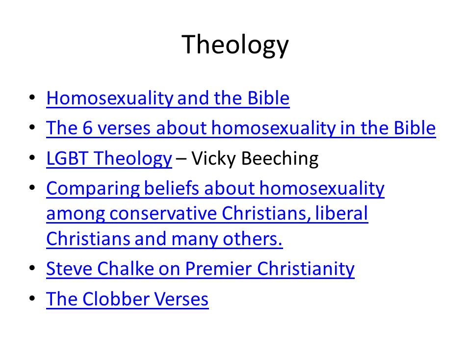 Liberal protestant views on homosexuality