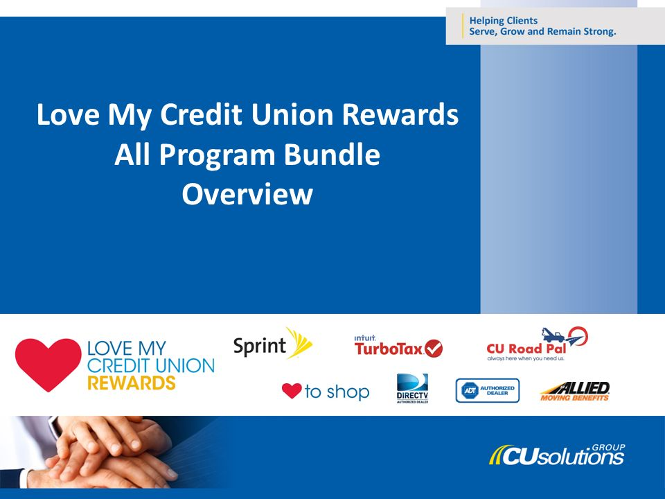 love my credit union rewards all program bundle overview ppt download