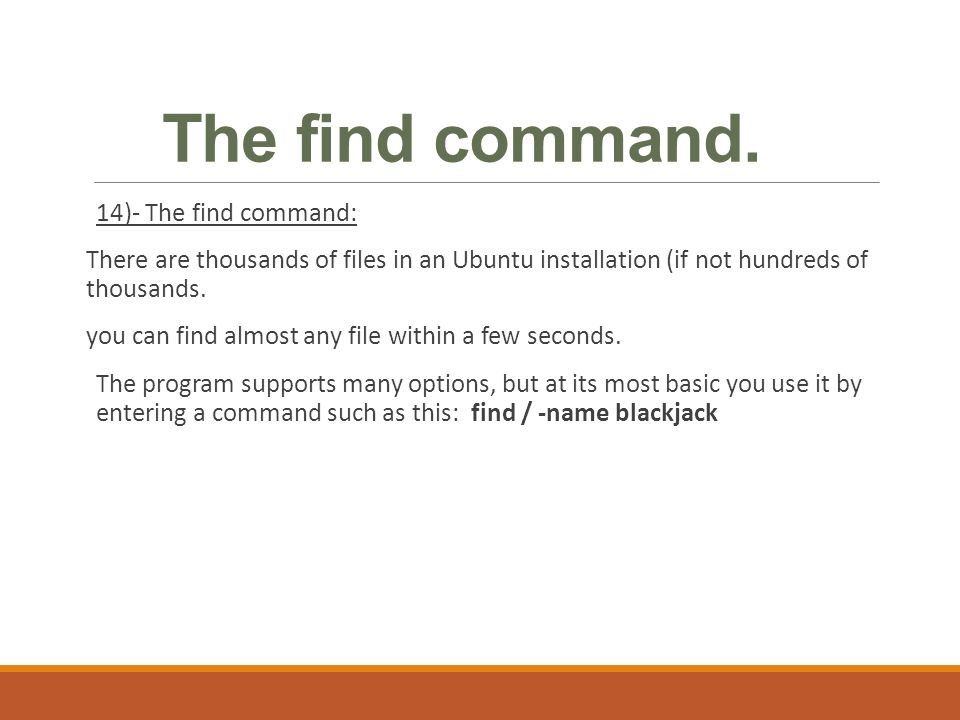 Linux - Ubuntu LECTURE TWO  Objective: Enable students to