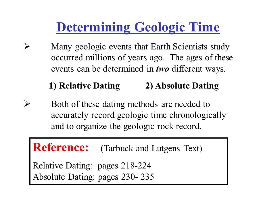 Why both relative dating and absolute dating are necessary to develop the fossil record