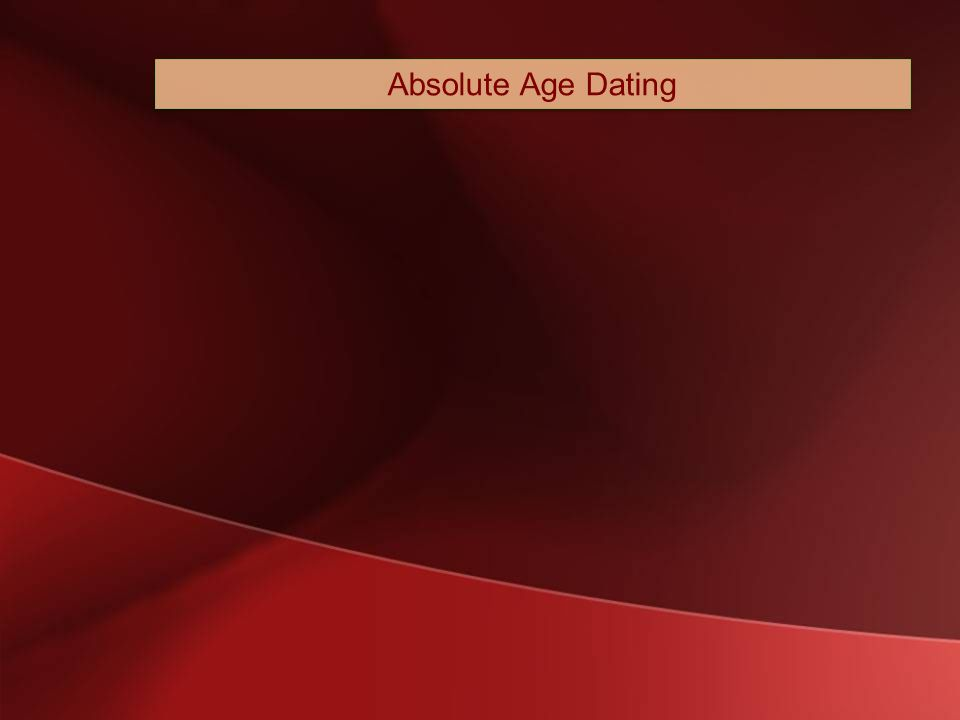 In age dating geologists use