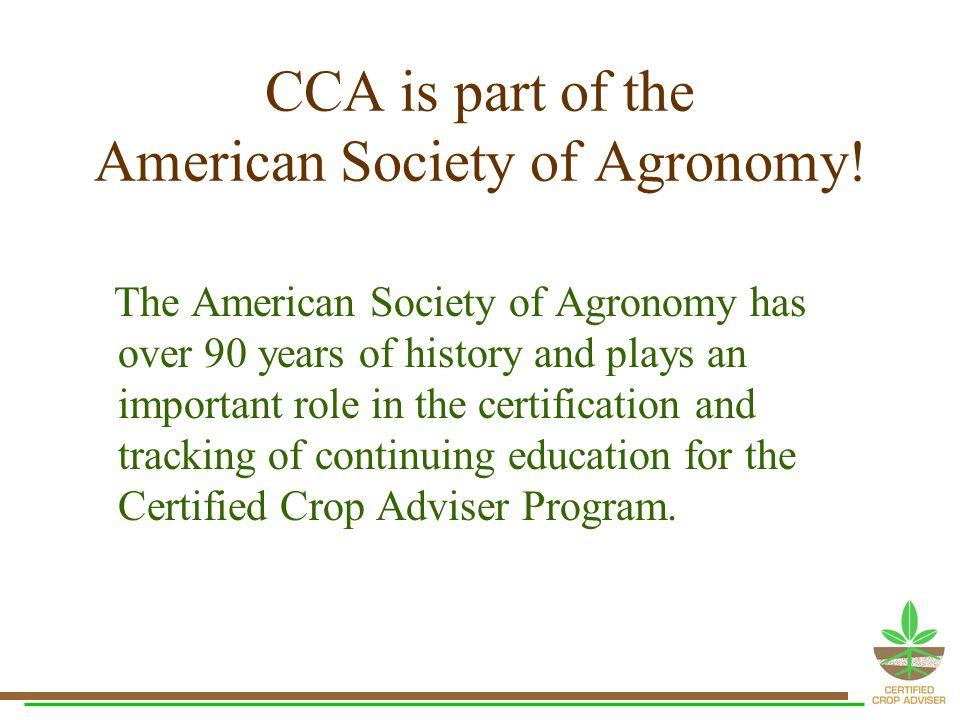 Qualified To Grow With You Certified Crop Advisers Cca