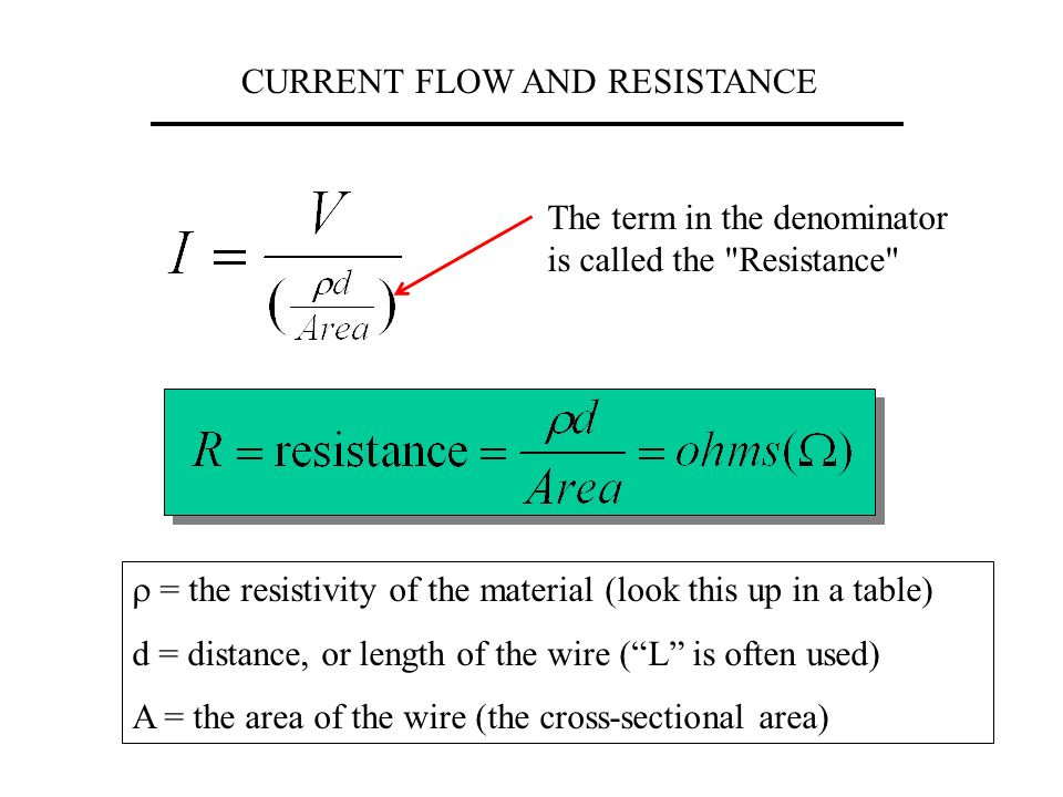 CURRENT FLOW AND RESISTANCE Previously in Physics: we were concerned ...