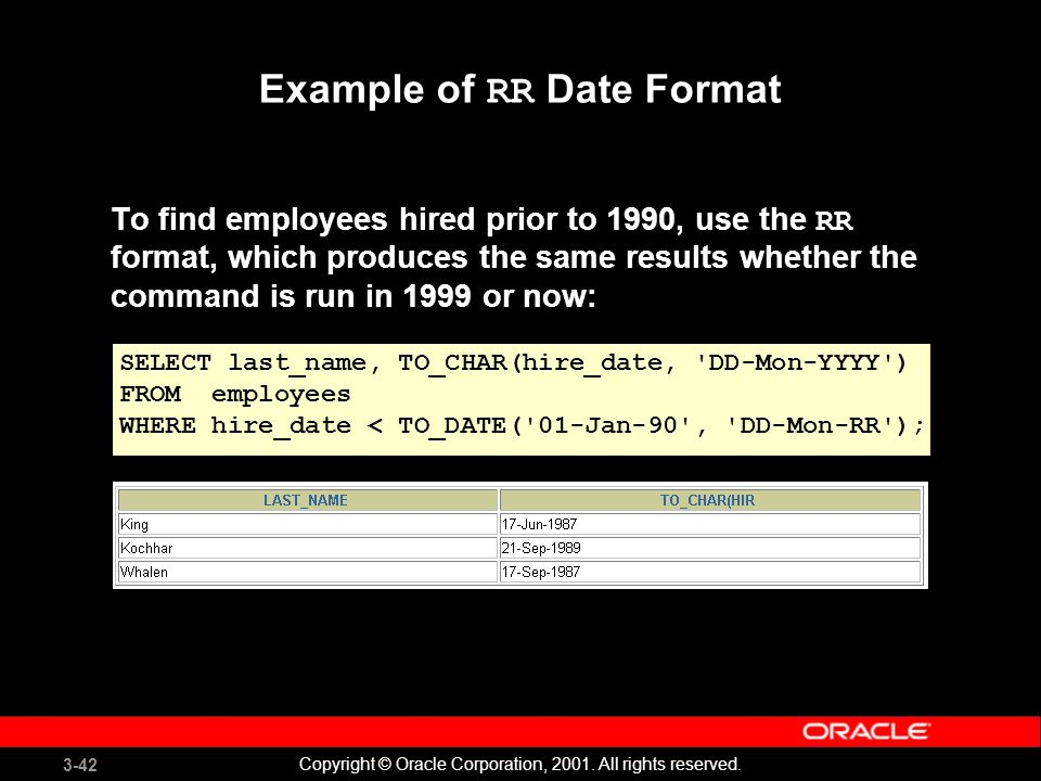 oracle select date format examples