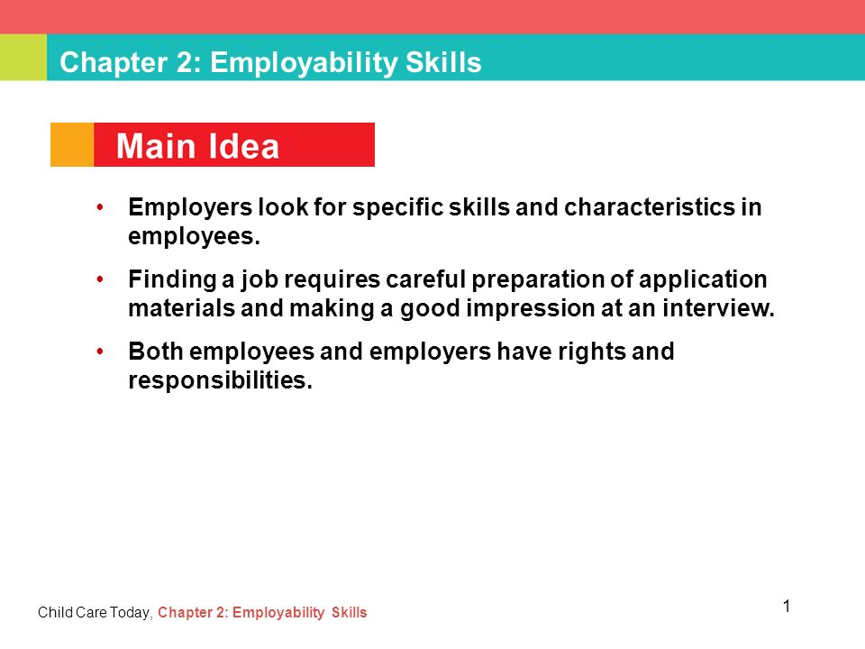 employability skill 2 Overview employability is related to work and the ability to be employed, such as: the ability to gain initial employment hence the interest in ensuring that 'key competencies', careers advice and an understanding about the world of work are embedded in the education system.