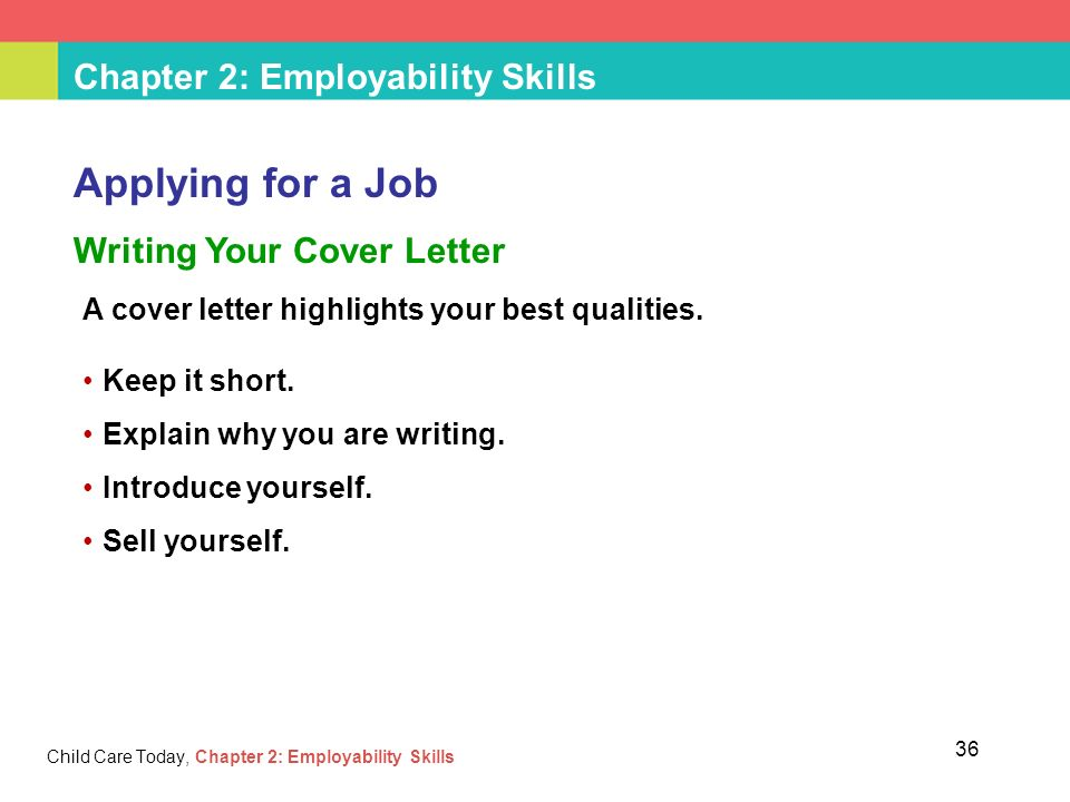 Chapter 2: Employability Skills Child Care Today, Chapter 2 ...