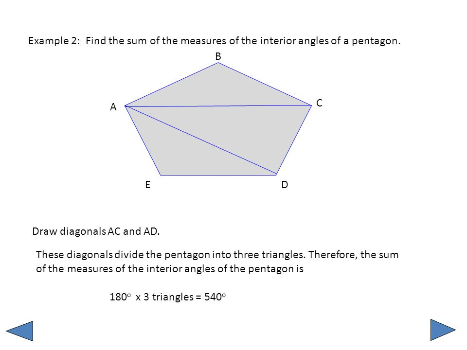 Unit 2 Mm1g3 A Sum Of The Interior And Exterior Angles In