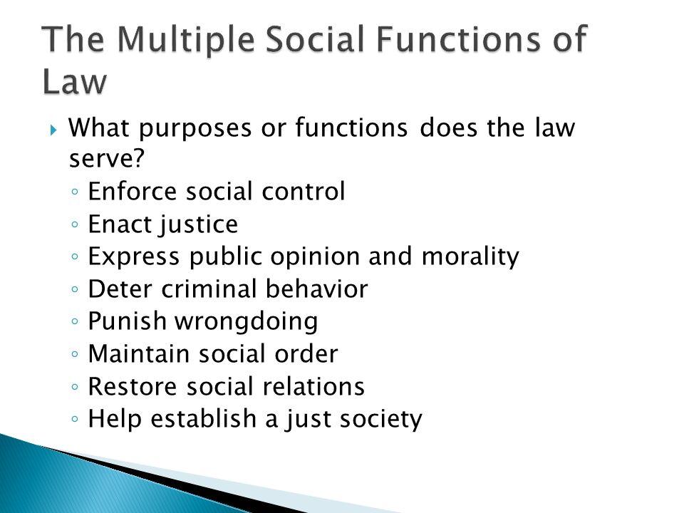 purpose of social control