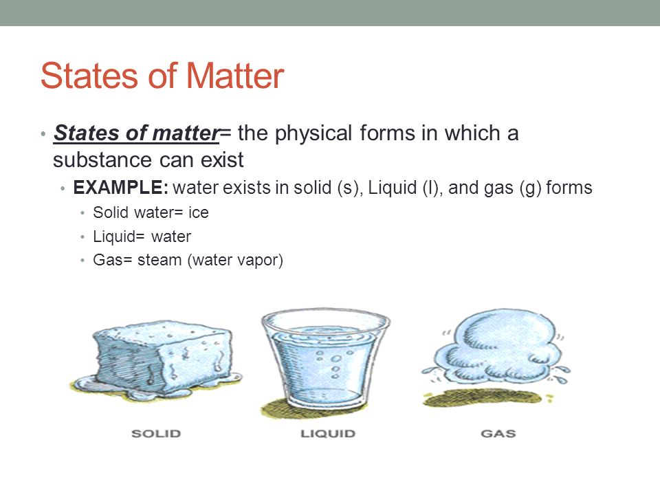 states of matter states of matter the physical forms in which a