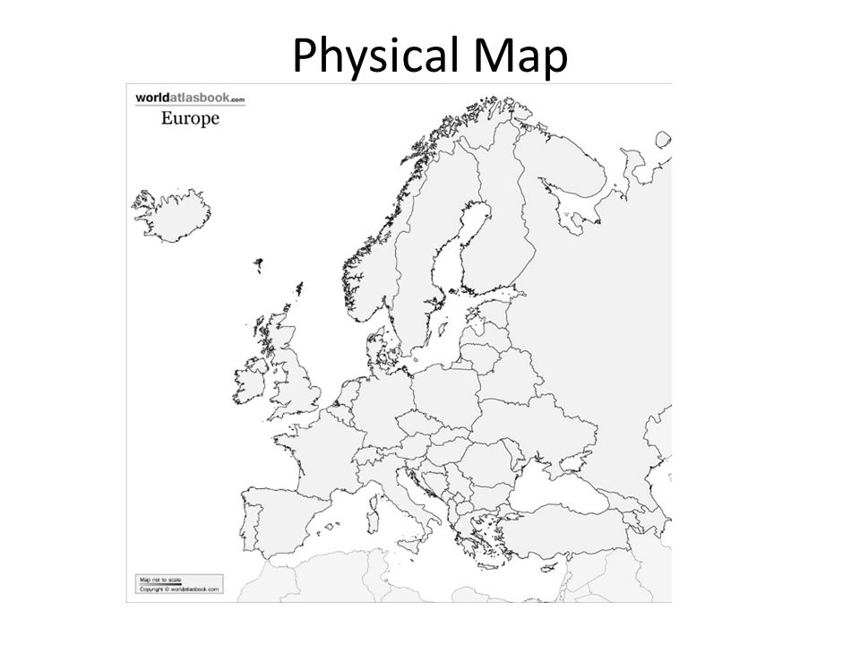 Geography of Europe. Physical Map Political Map. - ppt download