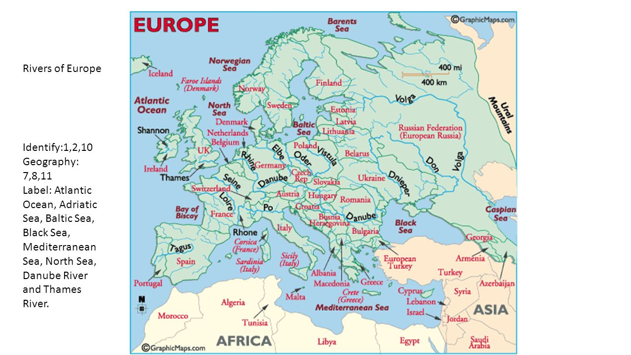 North Sea Europe Map.Europe Geography Identify Define Questions And Labeling Ppt