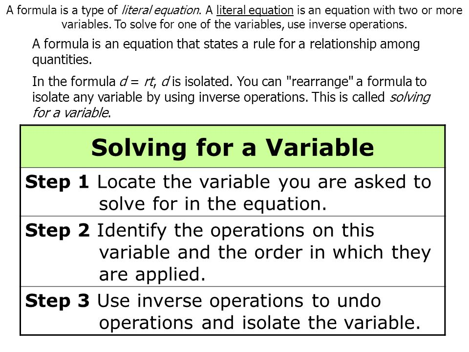 Success Criteria:  I can identify an equation as two expressions that are equal  I can use equations to model and solve problems Warm Up – Solve each equation 1.